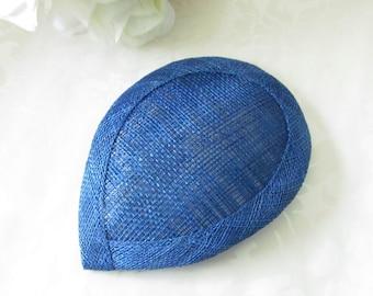 Royal Blue Teardrop Hat Base / Hat Base / Sinamay hat base / Fascinator Base / DIY Fascinator