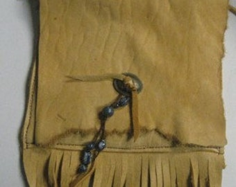 Elk Skin Fringed Hip Bag