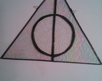 Stained Glass Deathly Hallows Symbol