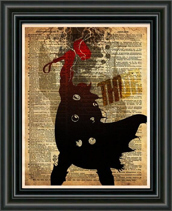Retro Superhero Art: Thor Wall Art Avengers SuperHero Pop Art Print Retro By