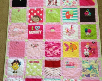 Baby Clothes Memory Tshirt Quilt