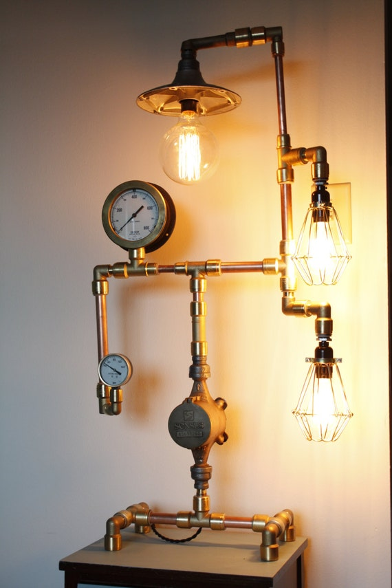 Items Similar To Sale Copper And Brass Steampunk Lamp