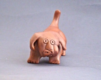 Whimsical Ceramic Dog Sculpture, Friedrick