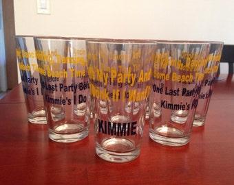 Bridesmaids Pint Glasses