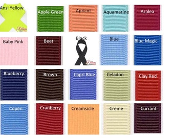 """3"""" GROSGRAIN Polyester Ribbon -  95 COLORS (A-R)  -Available in 20 yard & 50 yard spool - Perfect for Cheer and Hair Bows // 100% Polyester"""