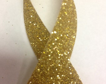 """5/8"""" GOLD SPARKLET RIBBON - 50 yards - Offray Metallic Ribbon - Super Sparkly Glitter Coverage / Full of Sparkle and Shine"""