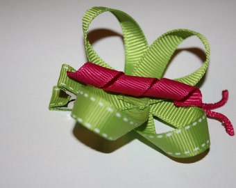 Butterfly Ribbon Hair Clip