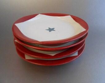 4 Small Pentagon Plates - Sacred Geometry