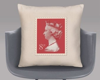 Queen's Head Stamp Cushion Cover