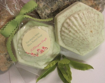 Eucalyptis Mint Shea Butter Soap, Melt and Pour Soap, body soap, guest soap, mint soap.