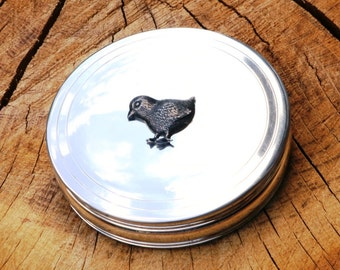 Chicken Trinket Jewelry Box English Pewter Ladies Gift