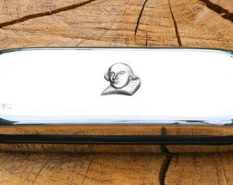 Shakespeare Metal Pen Case & Ball Point Set Personalisable Gift