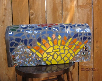 broken pottery and glass (free shipping)