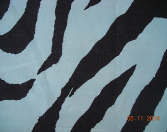 "Premier Prints Zebra print Fabric- Brown and Natural 54"" wide-1 1/2  yards 100% cotton duck decorator fabric"
