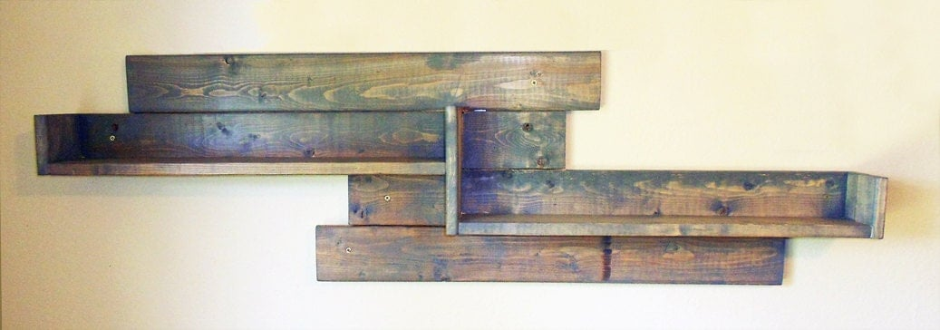 Rustic shelf wall shelf wood shelf rustic wood par kikolivinggoods - Etagere murale rustique ...