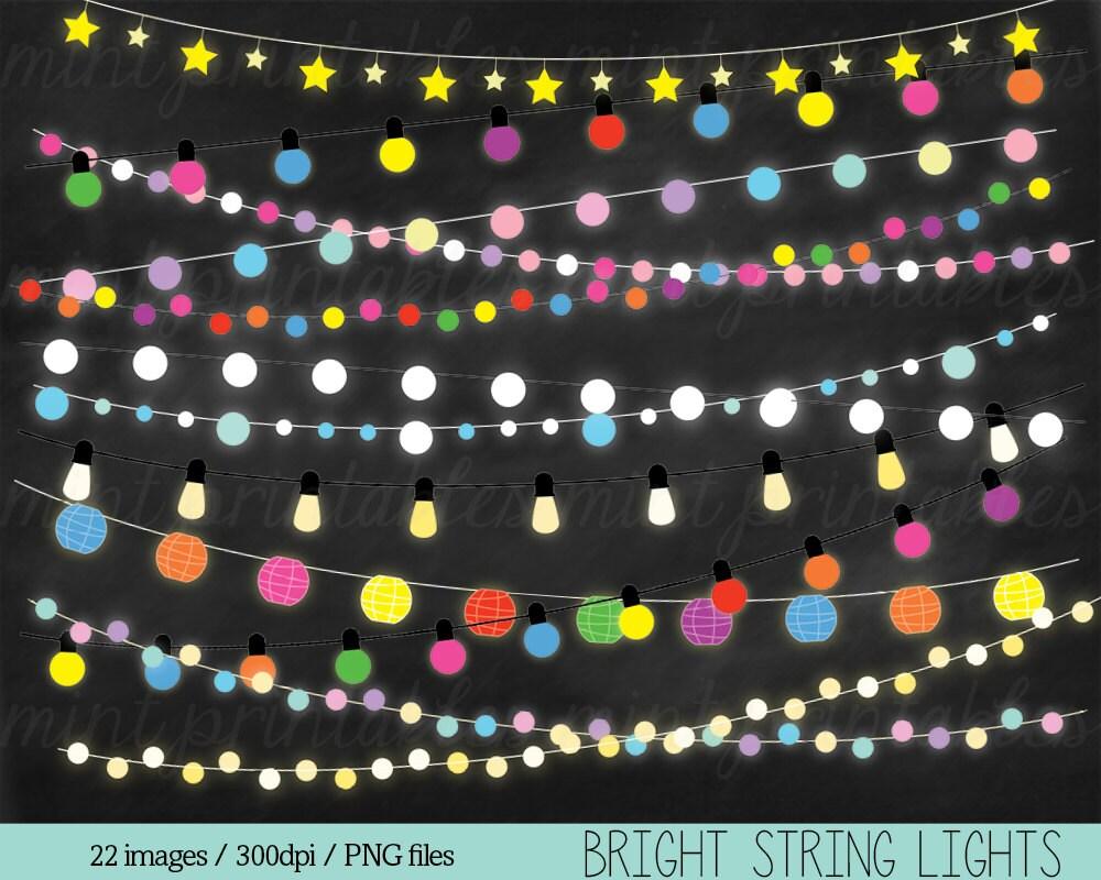 Fairy Lights Clipart String Lights Clip Art Christmas