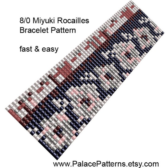 items similar to 8 0 seed bead bracelet loom pattern