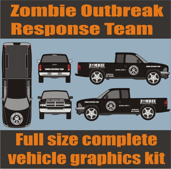 ZOMBIE OUTBREAK Response Team Full Vehicle Decal by QuickPhix