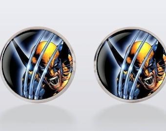 Wolverine Cufflinks, cuff links, men cuff links, superhero, wedding cufflinks