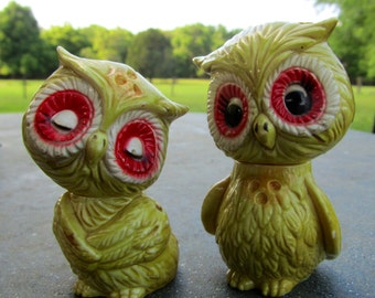 1980's Vintage Owl Salt and Pepper Shakers