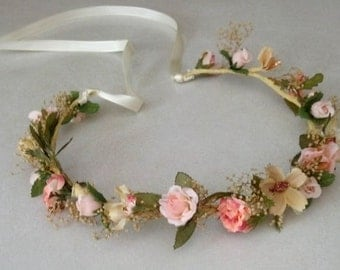 Romantic gipsy floral Crown  handmade