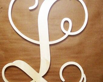 10 inch Unconnected Monogram Wooden Letter