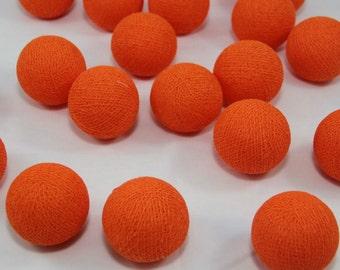 Orange Cotton Balls String Lights Fairy Home Decor Party