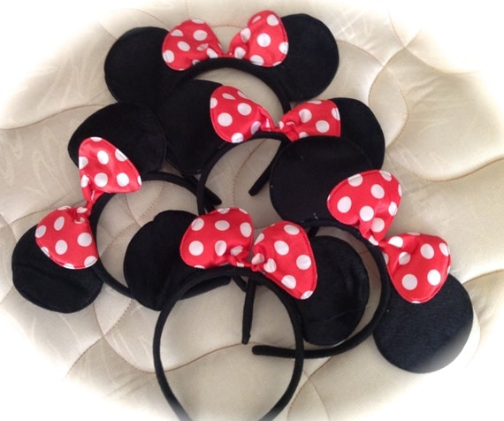set of minnie mouse ear children accessories kids specially. Black Bedroom Furniture Sets. Home Design Ideas