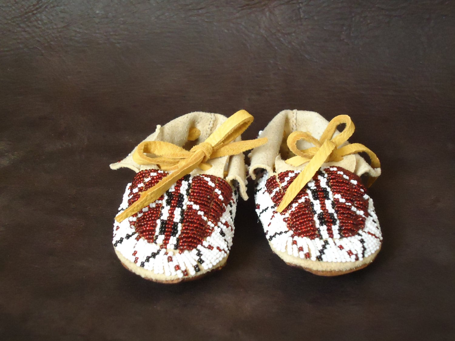 fully beaded baby moccasins