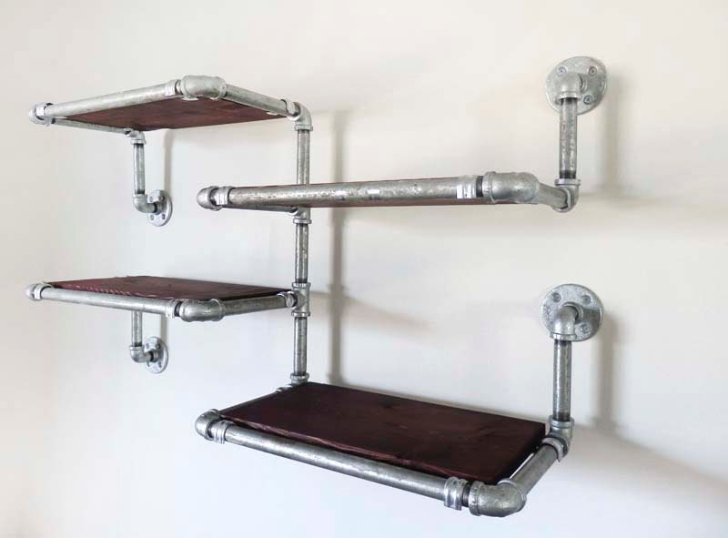 Hanging Shelf Galvanized Pipe Shelves With By DerekGoodbrand