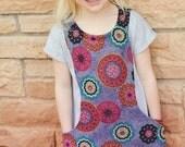 Girls Trendy Tunic pdf pattern for modern girls 2 4 6 8 10 12 14