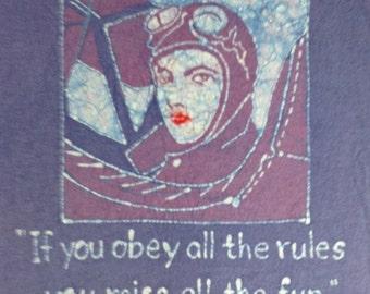 "Katharine Hepburn ""Rules"" Quote Custom Batik Tshirt"