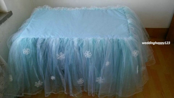 custom tulle table skirt for wedding birthday