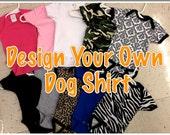 Dog clothes, dog shirt, dog onesie, personalized dog gift