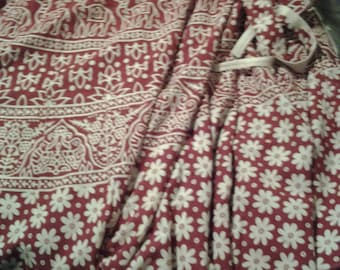 wrap around camels , elephants design cotton long skirt can be wear multiple ways