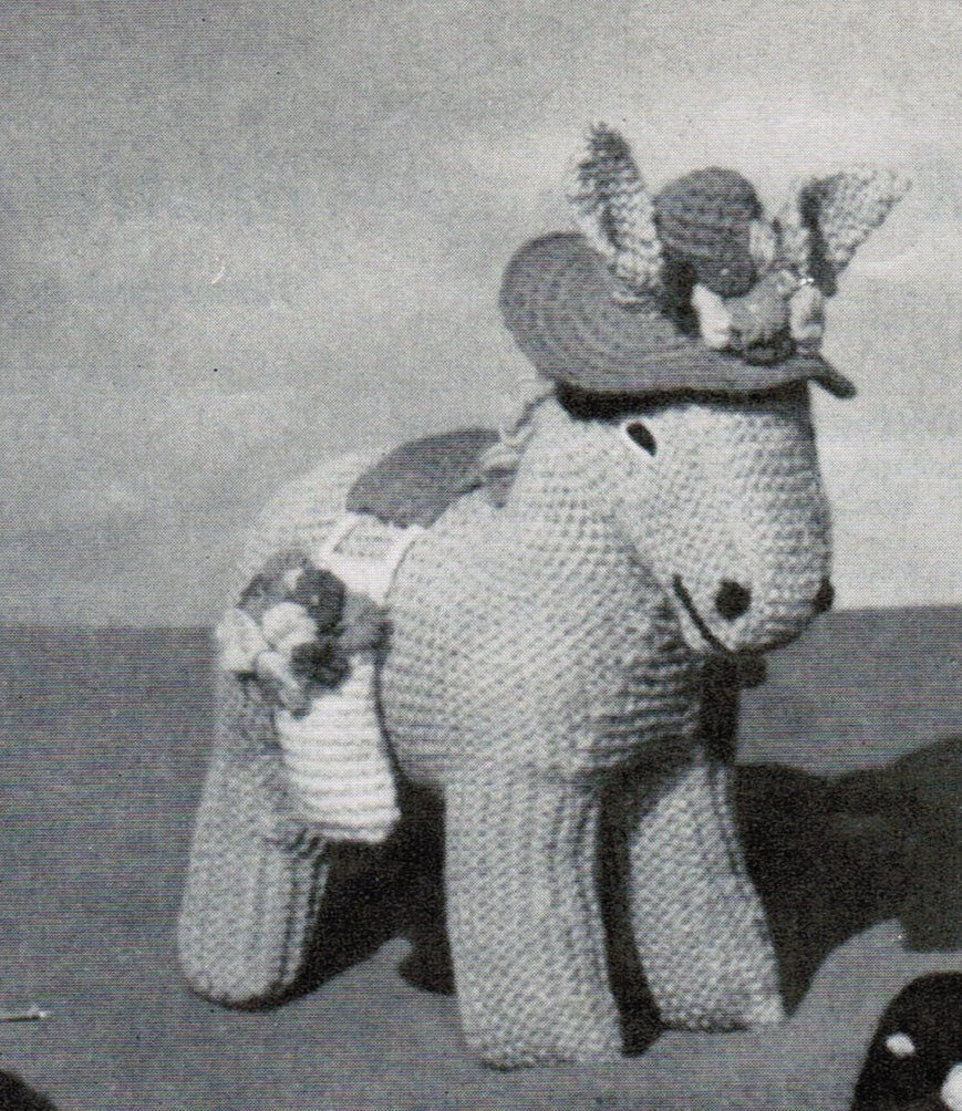 Knitting Pattern For Donkey Hat : Donna the Donkey and Foal Knitting Pattern PDF / Knitted ...