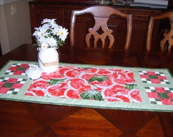 Table runner has organic cotton batting for added body. Wash in cold water, dry cool setting.