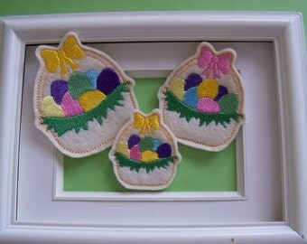 Easter Basket Feltie for Scrapbooking , Card Making, Hair Clips/ Bows