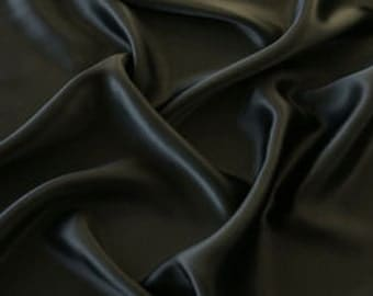 100% Silk Satin (SF016) Black