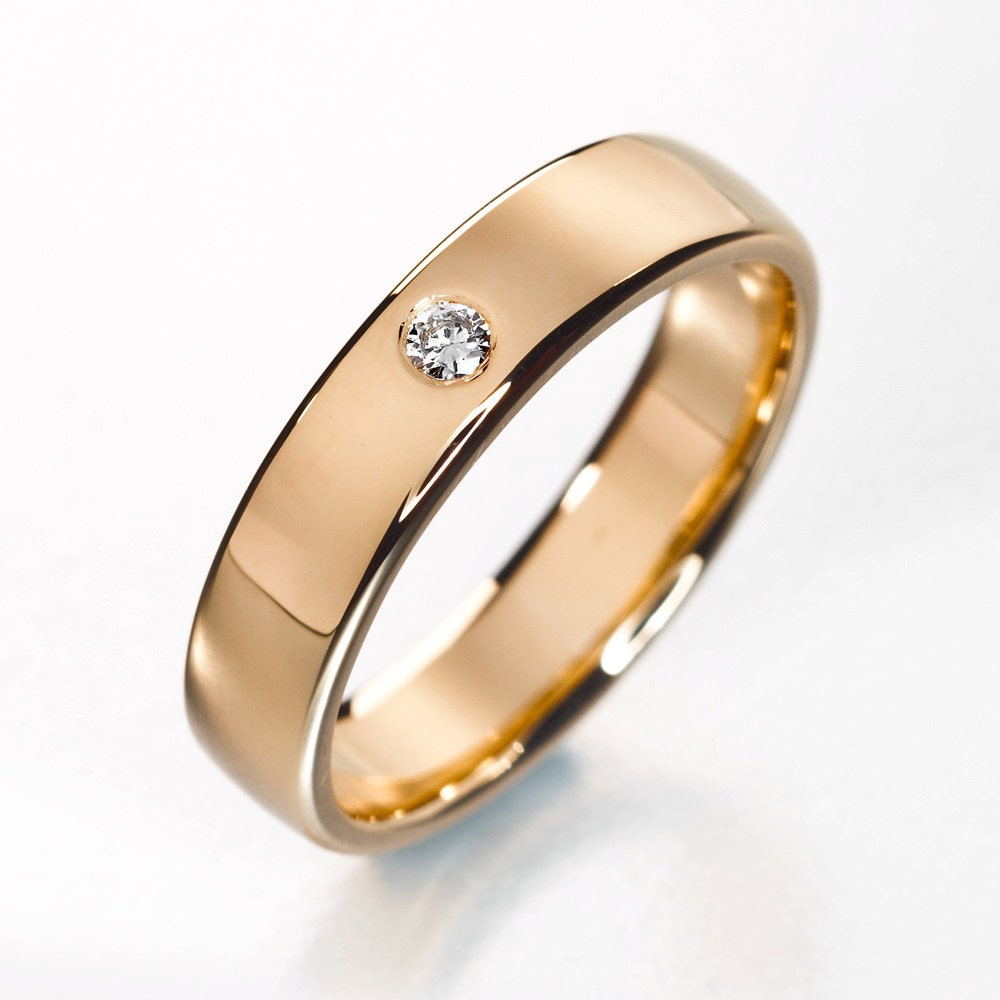 Simple engagement ring simple diamond wedding band by KorusDesign