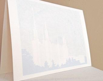 WASHINGTON DC LDS Temple (Note Card) Watercolor Print