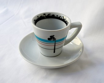 Velodrome Espresso Cup and Saucer OUT OF STOCK