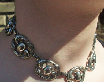 Silver Necklace / Vintage Mexican Silver / Made by Coro