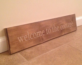 Welcome To The Cottage - wood wall art
