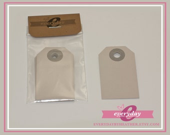 Small Parcel Gift Tags - Grey - Qty 10