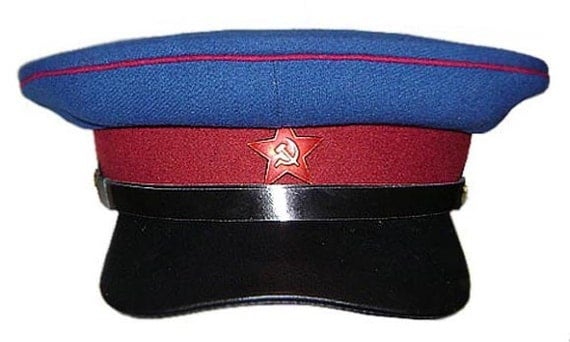 Soviet Officer Hat Soviet Visor Hat Nkvd Officer