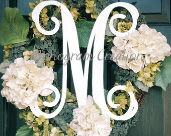 """14"""" Wood letters wall decal wall monogram, front door monogram nursery wall decor PAINTED"""