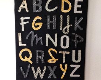 Art for Kids, Canvas Wall Art, Nursery Wall Art, Play Room Art, Alphabet Art