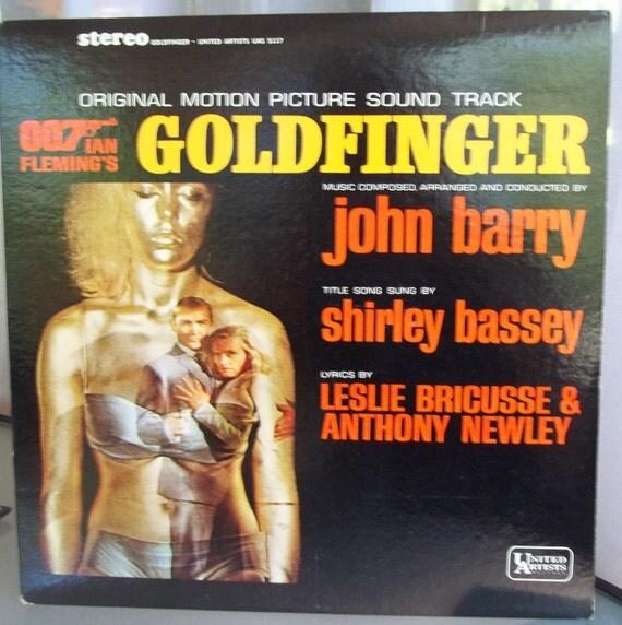 James Bond Goldfinger Soundtrack Vintage Record Album