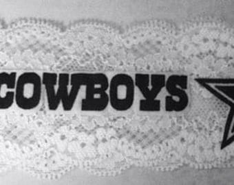 Dallas Cowboys Elastic Lace Headband or Garter